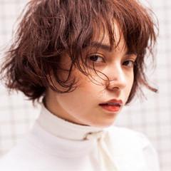 外国人風 フェミニン ボブ 透明感 ヘアスタイルや髪型の写真・画像