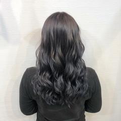 ストリート ロング 派手髪 ネイビー ヘアスタイルや髪型の写真・画像