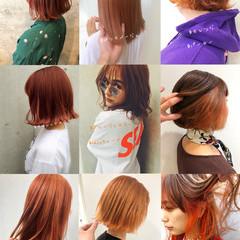 ショートヘア オレンジカラー ショートボブ ナチュラル ヘアスタイルや髪型の写真・画像