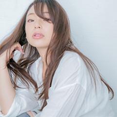 ロング 縮毛矯正 エアーストレート ストレート ヘアスタイルや髪型の写真・画像