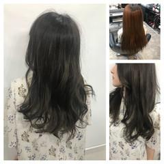 女子力 コンサバ 冬 グレージュ ヘアスタイルや髪型の写真・画像