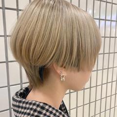 ブリーチ ショートヘア ショートボブ ブリーチカラー ヘアスタイルや髪型の写真・画像
