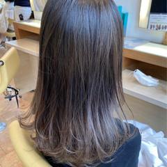 グラデーションカラー ナチュラル 透明感カラー 透明感 ヘアスタイルや髪型の写真・画像