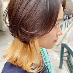 ミディアム マッシュウルフ レイヤースタイル ナチュラルウルフ ヘアスタイルや髪型の写真・画像