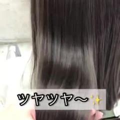 美髪 縮毛矯正 セミロング ツヤ髪 ヘアスタイルや髪型の写真・画像