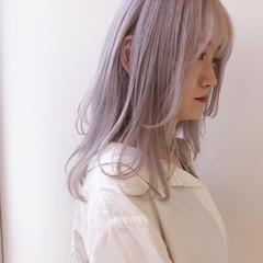 ピンクラベンダー ベリーピンク ロング ピンクパープル ヘアスタイルや髪型の写真・画像