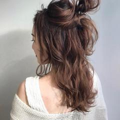 成人式 セミロング 結婚式 簡単ヘアアレンジ ヘアスタイルや髪型の写真・画像
