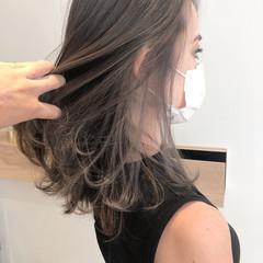 極細ハイライト インナーカラー ハイライト 大人ハイライト ヘアスタイルや髪型の写真・画像