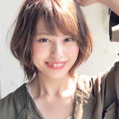 ショート 大人かわいい アンニュイほつれヘア デジタルパーマ ヘアスタイルや髪型の写真・画像