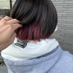 ショートボブ ショートヘア ブリーチ フェミニン ヘアスタイルや髪型の写真・画像