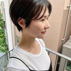 オフィス デート ショートボブ ショートヘア ヘアスタイルや髪型の写真・画像