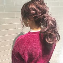 ポニーテール ヘアアレンジ ガーリー 大人かわいい ヘアスタイルや髪型の写真・画像