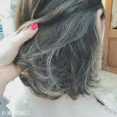 ハイライト 大人かわいい デート グラデーションカラー ヘアスタイルや髪型の写真・画像