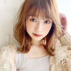 ひし形シルエット おフェロ ミディアム モテ髪 ヘアスタイルや髪型の写真・画像