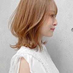 アンニュイほつれヘア モテ髪 ミディアム ナチュラル ヘアスタイルや髪型の写真・画像