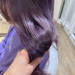 透明感カラー ナチュラル セミロング 艶髪 ヘアスタイルや髪型の写真・画像
