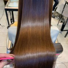 髪質改善カラー ロングヘア 髪質改善 レイヤーカット ヘアスタイルや髪型の写真・画像