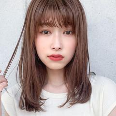 小顔ヘア ナチュラル 鎖骨ミディアム ミディアム ヘアスタイルや髪型の写真・画像
