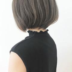 ボブ 前下がりボブ ハイライト ショートヘア ヘアスタイルや髪型の写真・画像