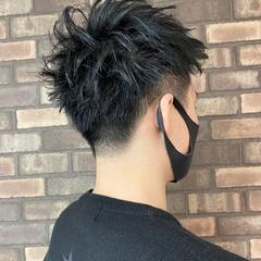 透明感 ショート ブルーブラック イルミナカラー ヘアスタイルや髪型の写真・画像