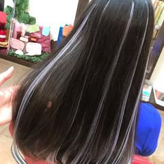 ハイライト エクステ カラフルカラー 韓国ヘア ヘアスタイルや髪型の写真・画像