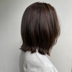 カジュアル 大人かわいい 切りっぱなしボブ アンニュイほつれヘア ヘアスタイルや髪型の写真・画像