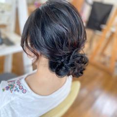 大人女子 ヘアアレンジ ミディアム ナチュラル ヘアスタイルや髪型の写真・画像