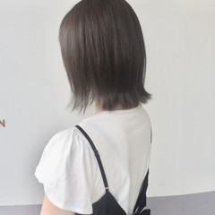 オフィス デート ボブ ナチュラル ヘアスタイルや髪型の写真・画像