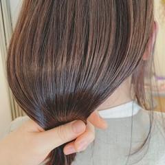 ストレート ハイライト エレガント グラデーションカラー ヘアスタイルや髪型の写真・画像