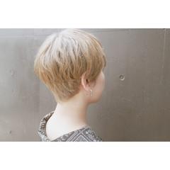 ベリーショート ナチュラル ショート ハイトーンカラー ヘアスタイルや髪型の写真・画像