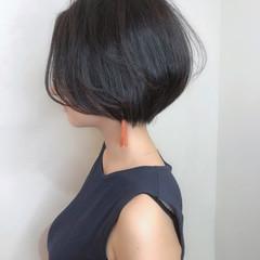ショート モード ショートボブ 小顔ショート ヘアスタイルや髪型の写真・画像