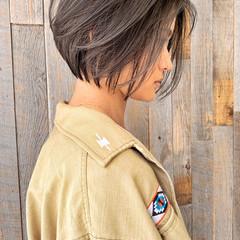 ショートヘア ハイライト ショート 3Dハイライト ヘアスタイルや髪型の写真・画像