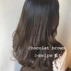 ミルクティーベージュ ショコラブラウン グラデーションカラー ナチュラル ヘアスタイルや髪型の写真・画像
