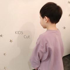 ナチュラル ショート 子供 キッズカット ヘアスタイルや髪型の写真・画像