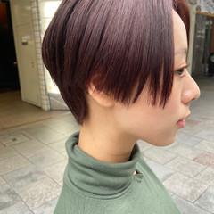 大人ショート ショートボブ ショートヘア ナチュラル ヘアスタイルや髪型の写真・画像