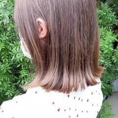 インナーカラー フェミニン セミロング ミニボブ ヘアスタイルや髪型の写真・画像