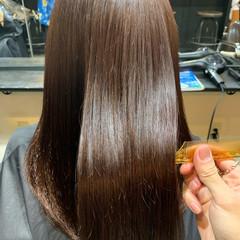 ロング 髪質改善 ナチュラル 黒髪 ヘアスタイルや髪型の写真・画像