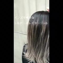 女子力 スポーツ ロング ストリート ヘアスタイルや髪型の写真・画像