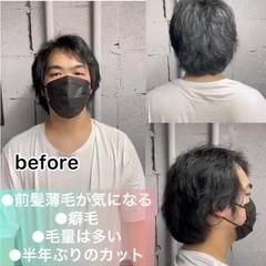 メンズ ショート ナチュラル メンズカット ヘアスタイルや髪型の写真・画像