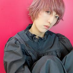 ハイトーンカラー ピンク ペールピンク ショート ヘアスタイルや髪型の写真・画像
