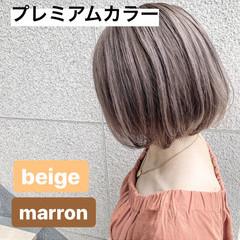 秋ブラウン ナチュラル ミニボブ ボブ ヘアスタイルや髪型の写真・画像