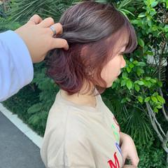 外国人風カラー ストリート イルミナカラー ラベンダーアッシュ ヘアスタイルや髪型の写真・画像