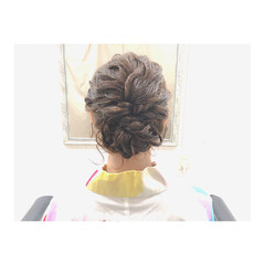 ヘアアレンジ 花火大会 セミロング 夏 ヘアスタイルや髪型の写真・画像