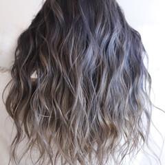ハイトーン ロング ヘアアレンジ ハイライト ヘアスタイルや髪型の写真・画像
