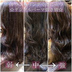 ロング デジタルパーマ ゆるふわパーマ パーマ ヘアスタイルや髪型の写真・画像