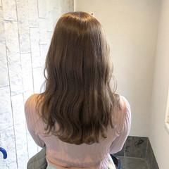透明感カラー フェミニン アッシュ セミロング ヘアスタイルや髪型の写真・画像