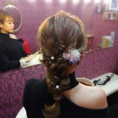 結婚式ヘアアレンジ 簡単ヘアアレンジ ナチュラル ヘアアレンジ ヘアスタイルや髪型の写真・画像