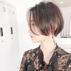 ショートボブ ストレート 縮毛矯正 ミニボブ ヘアスタイルや髪型の写真・画像