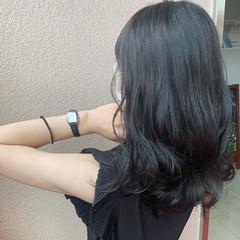 髪質改善トリートメント ナチュラル セミロング 韓国 ヘアスタイルや髪型の写真・画像