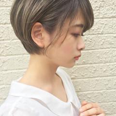 ナチュラル 色気 ショート 秋 ヘアスタイルや髪型の写真・画像